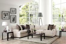 SM3079 2 pc Alisa ivory chenille fabric sectional sofa