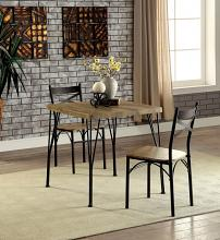 CM3279T-29-3PK 3 pc slingsby industrial style weathered finish wood bistro table set