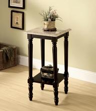 Furniture of america CM-AC787 Santa clarita dark cherry finish solid wood square marble table top side table