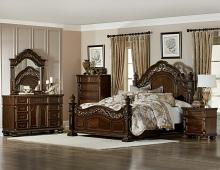 Homelegance 1824-5PC 5 pc Catalonia cherry finish wood ornate bedroom set