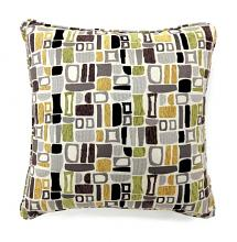 "Set of 2 bloc collection multi colored fabric 18"" x 18"" throw pillows"