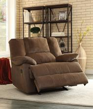 Acme 59415 Oliver chocolate corduroy fabric glider recliner chair