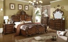 Mc Ferran B7189 5 pc Sopressa dark cherry brown finish wood queen bedroom set