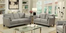 CM6716GY 2 pc ysabel gray flannelette fabric sofa and love seat set