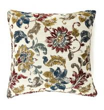 "Set of 2 florra collection multi colored fabric 18"" x 18"" throw pillows"