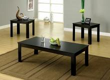 CM4329-3PK 3 pc bay square black wood finish coffee table set
