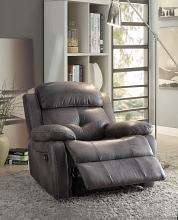 Acme 59466 Ashe gray polished microfiber fabric recliner chair