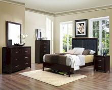 5 pc Vestavia collection espresso / cherry finish wood bedroom set
