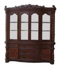 Vendome collection cherry finish wood dining hutch and buffet set