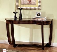 Furniture of america CM4336S Crystal falls dark cherry wood finish abnormity sofa table