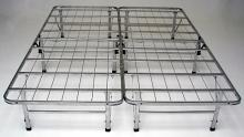 Cal king size bedder base complete folding mattress support system platform bed frame