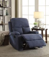 Acme 59545 Rosia blue linen fabric recliner chair with cup holders