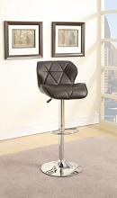 Poundex F1587 Set of 2 kossini contemporary style dark brown diamond back faux leather adjustable swivel bar stool